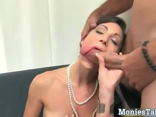 Two super sexy horny babes sucking dudes