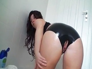 Amazing Ass Chubby Close up Latex Masturbating Webcam