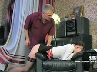 Daddy Old and Young Russian Teen