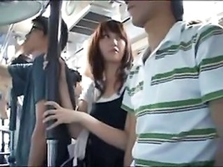 Asian Bus Public Teen Young