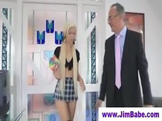 Young Blonde Fucking An Old Man