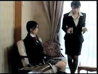 Asian Lesbian MILF Old and Young Teen Uniform