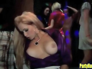 Drunk Babes Sucking and Fucking at the Club