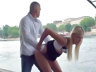 Public fuck with blond