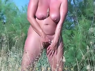 Amateur Masturbating Mature Nudist Outdoor SaggyTits
