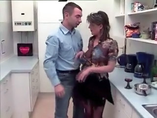 Kitchen MILF Mom Old and Young
