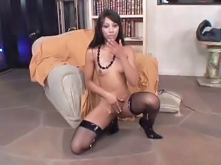 Amazing Asian Cumshot MILF Small Tits Stockings