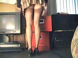 Legs Secretary Stockings Upskirt