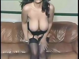 Big Tits MILF Natural Solo Stockings