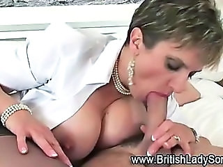 Big Tits Blowjob British European Mature MILF Natural