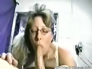 Amateur Big cock Blowjob Deepthroat Glasses Homemade Wife