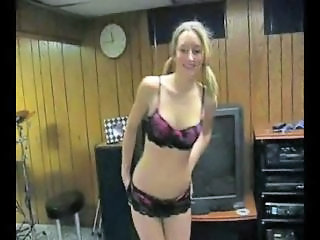 Amateur Pigtail Stripper Teen
