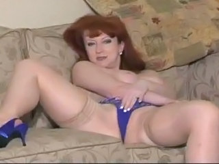 British European Masturbating Mature Panty Stockings