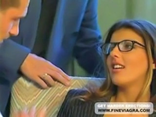 Glasses Office Pornstar Secretary Threesome