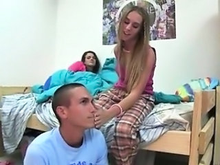 School Student Teen Threesome Young