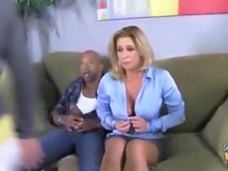 Big Tits Interracial MILF Mom