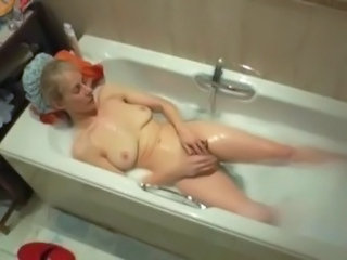 Bathroom  Masturbating Mature Mom Voyeur