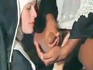 Cumshot Interracial MILF Nun Uniform Vintage