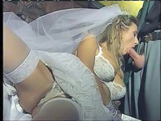 Blowjob Bride Lingerie MILF Stockings Vintage