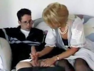 Big cock Handjob MILF Mom Old and Young