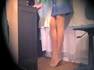 Legs Skirt Stockings Webcam