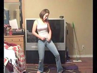 Amateur Homemade Jeans Stripper Teen