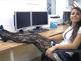 Amateur Legs MILF Office Secretary Stockings