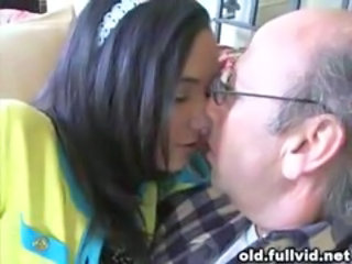 Brunette Daddy Daughter Old and Young Teen