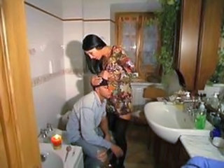 Bathroom European Italian MILF Old and Young Stockings