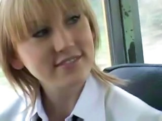 Asian Blonde Bus Cute Public Teen
