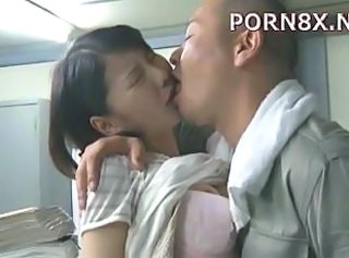 Asian Japanese Kissing Office