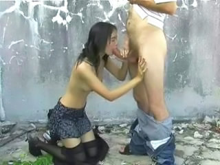 Asian Blowjob Outdoor Skinny Small Tits Stockings Teen Thai