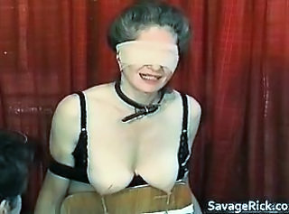Kinky MILF is sex slave in weird bondage part6