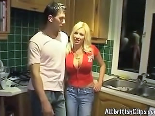 Amazing Big Tits Blonde Jeans Kitchen MILF