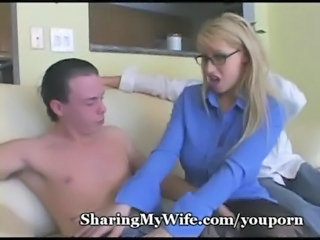 Bus Cuckold Glasses MILF Wife