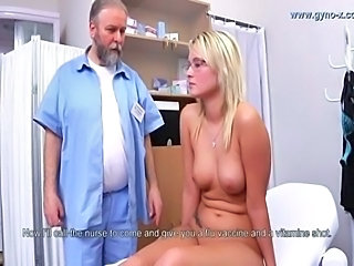 Blonde Daddy Doctor Old and Young Teen