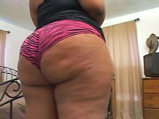 Ass BBW Ebony Mature Panty