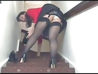 Amateur Mature Stockings Upskirt