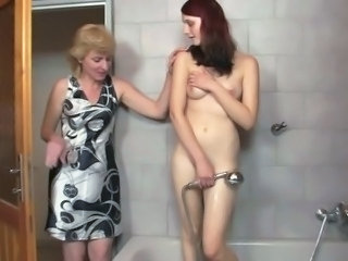 Bathroom Daughter Lesbian Mature Mom Old and Young Teen
