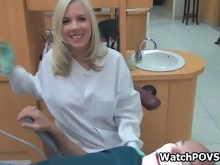 Bigtit flaxen-haired dentist fucked at clinic