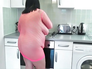 BBW Fishnet Kitchen Mature