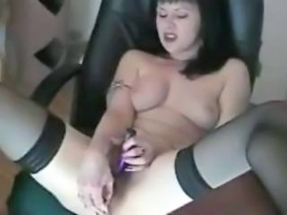 Masturbating MILF Solo Stockings Toy Webcam