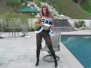 Babe Maid Outdoor Pantyhose Pool Solo Stripper Uniform