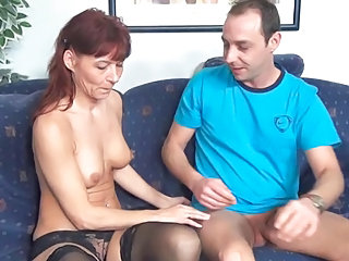 German Mature Mom Old and Young Stockings