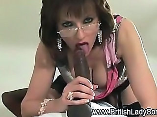 Amazing Big cock Blowjob Bus Glasses Interracial MILF