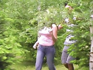Girl likes to get fucked in the woods