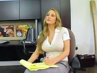 Amazing Big Tits MILF Secretary
