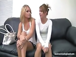 Two blondes get fucked on the casting couch and make the movie