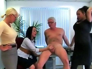 CFNM Handjob MILF Office Small cock
