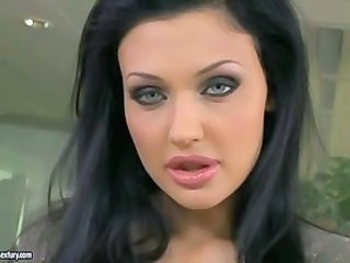 Hot secretary Aletta Ocean masturbating